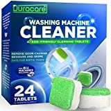 Duracare Washing Machine Cleaner, Heavy-Duty Deep Clean and Deodorize, 24 Tablets - 1 Year Supply, Best for HE, Front load, and Top load Washers