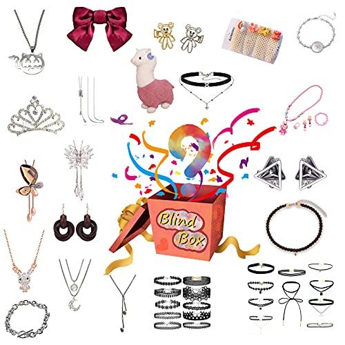 JEDNF Caja de la Lucky Mystery, Caja de Ciegos Sorpresa para Adultos, Caja de Regalo de cumpleaños aleatorios, Varios Productos de joyería más recientes, ¡Todo es Posible!