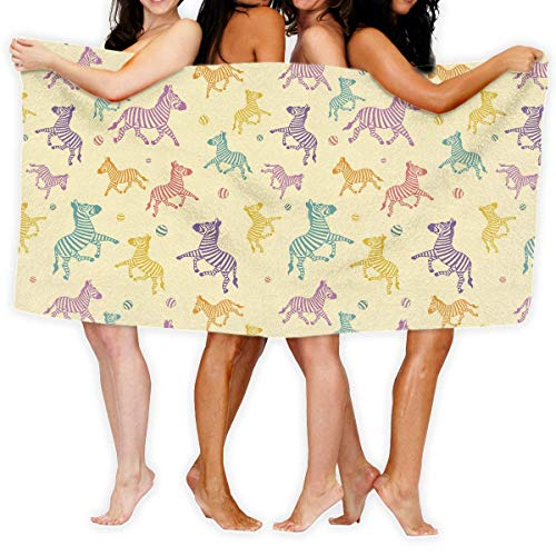 Toallas de playa, Patrón de cebra de gran tamaño de microfibra súper absorbente personalidad toalla de baño playa manta toallas 90x150cm