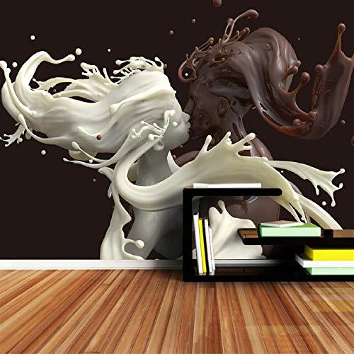 3D groot behang muurschildering foto luxe niet-geweven muur decoratie rollen voor muren woonkamer behang muur papieren huis Decor chocolade melk liefhebbers Cafe Bar 350 * 245 350 * 245