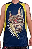 Ed Hardy Mens Dragon Shooter Sport Tank Top - Blue - Large