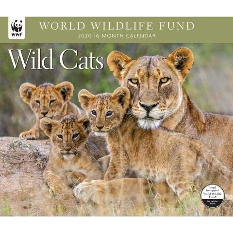 2020 WORLD WILDLIFE FUND Wild Cats Deluxe Wall Calendar