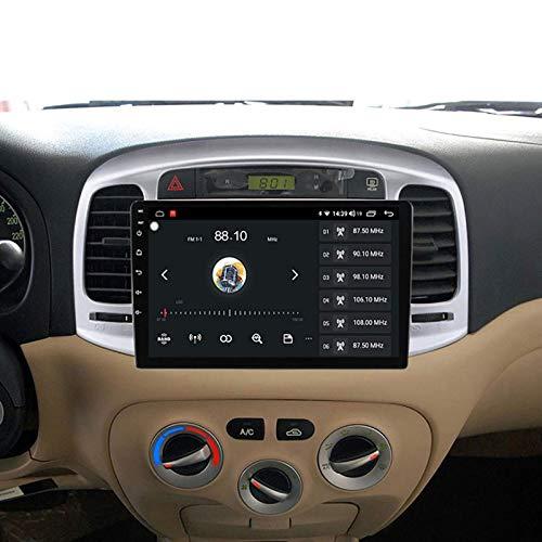 Coche estéreo GPS GPS táctil HD Carplay Radio Multimedia System Tracker, 8Core 4G+WIFI: 6+128G