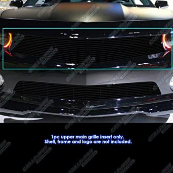 AUTEX Main Upper+Lower Bumper Billet Grille Insert Combo Compatible With Chevy Camaro SS V8 2010-2013 Grill C61029H
