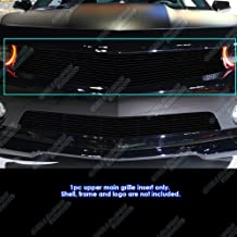 APS Compatible with 2010-2013 Chevy Camaro LT LS RS SS Black Billet Grille Grill Insert S18-H02766C