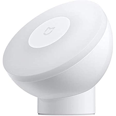OLLIAVN Motion Sensor Night Light 360 Degree Rotating Adjustable Brightness Infrared Light Activated Automatic Light Control Night Lamp