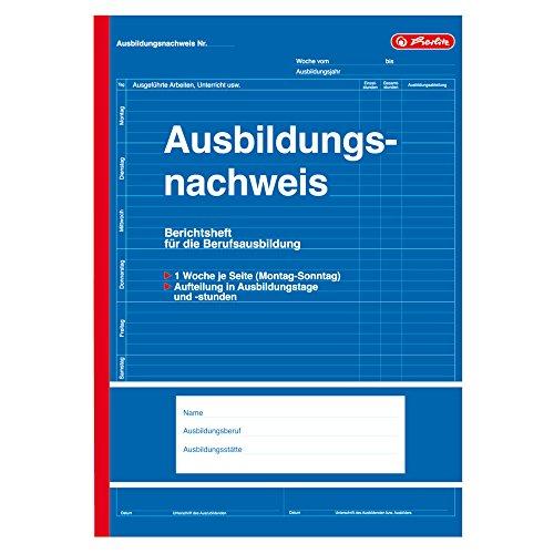 """Herlitz 840702 Formularbuch\""""Ausbildungsnachweis\"""", DIN A4, 28 Blatt"""