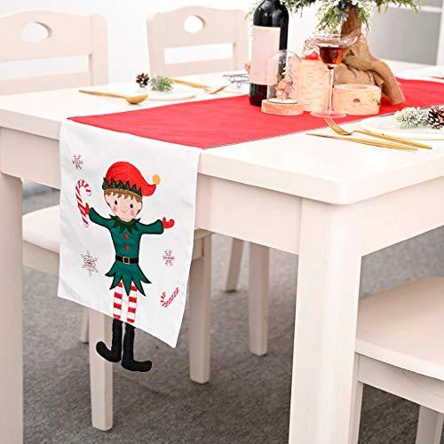 Christmas Decorations Sale Creative Christmas Cotton Linen Tablecloth Table Flag Desktop Decoration Merry Christmas Decorative Xmas Decor Ornaments Party Decor Gifts for Kids