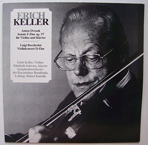 Sonate op. 57 für Violine und Klavier und Violinkonzert d-dur - Signed from Keller for Hr. Paulsen. Erich Keller, Elisabeth Schwarz, Rafael Kubelik Stereo