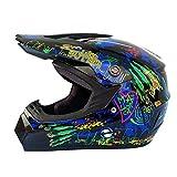 Motocross Helme Vitrine Mountainbike Radfahren oder Motorradfahren Straßenrennen mit Brille Motorradhalbhelm Visier