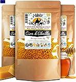 Nabür - Cire d'abeille 200 GR Pastilles | 100% Pure Cire d'Abeille | Parfait pour cosmétiques, DIY, et Fabrication de Bougies