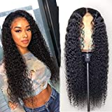 Black Long Straight Curly Short Bob Remy Hair Wigs Natural Heat Resistant Fiber Hair Full Daily Wear Wig with Bangs Cosplay Party Wig For Women (E)