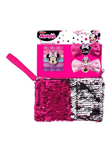 Mickey Mouse 63764 Disney Minnie Accessoires mit Paillettentäschchen, Mehrfarbig