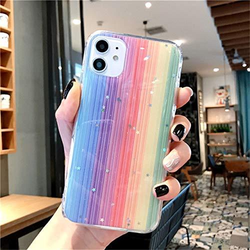 AAA&LIU Estuche para teléfono Colorful Glitter Bling Stars para iPhone 11 Pro MAX X XS XR XS MAX Carcasa Trasera Suave de TPU para iPhone 6 6s 7 8 Plus, T1, para iPhone XS