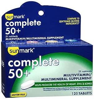 Sunmark Complete 50+, Multivitamin/Multimineral Tablets - 125 Tablets, Pack of 5