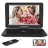 NAVISKAUTO Lecteur DVD Portable Voiture Grand Ecran 14 Pouce pour Enfant Supporte HDMI Input,Vidéo Full HD, AV in/Out,Region Libre,Dernière mémoire,USB MMC