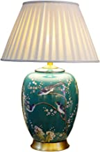 CKH Bedroom Bedside Lamp American Painted Flowers and Birds Ceramic Table Lamp Neoclassical Living Room Luxury Ornament La...