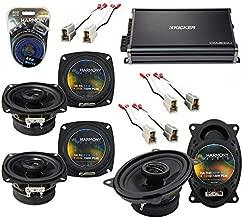 Compatible with Volkswagen Passat 90-97 OEM Speaker Upgrade Harmony (2) R4 R46 & CXA300.4 Amp (Renewed)