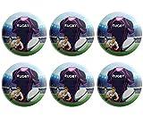 Lot de 6 badges boutons sur le thème du rugby - Pour pochettes surprises, couleurs du stade de Francais