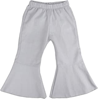 Wennikids Infant Toddler Baby-Girls Denim Fancy Ruffle Flare Pants 1-6T
