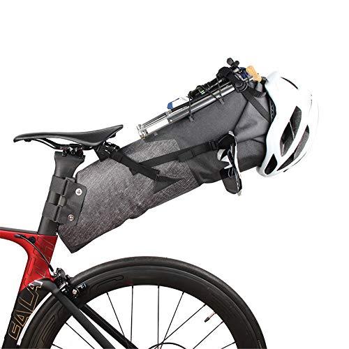 Sikungjlk Bolsa de sillín de Bicicleta Montaña de Bicicletas de montaña Bicicletas Pannier Bandeja Trasera Bolsa de complementos de equitación Bolsa para Viajes cotidianos, Viajes y Picnic