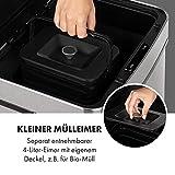 KLARSTEIN Touchless Mülleimer Sensor-Mülleimer, 72 Liter Volumen in 4 Behältern: 43 & 2 x 12,5 Liter, Bio-Eimer mit Deckel: 4 Liter, touchless: automatisches Öffnen und Schließen, Silber - 7