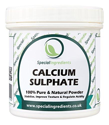 Special Ingredients Calciumsulfat (Gips / Gypsum) 500g (Deutsche Etiketten Und Anleitungen)