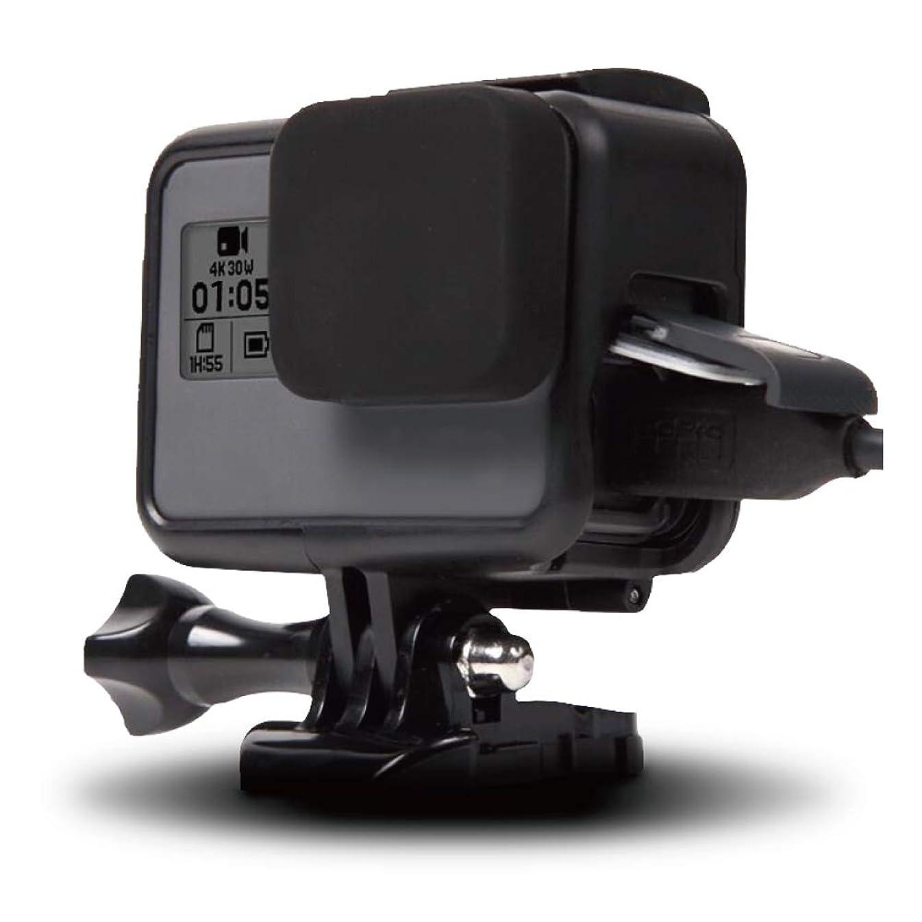 愛情深い爆弾コロニー【ActyGo】GoPro hero7 Black hero6 hero5 用 フレーム ケース + シリコンレンズカバー 装着したまま充電が可能 365日保証
