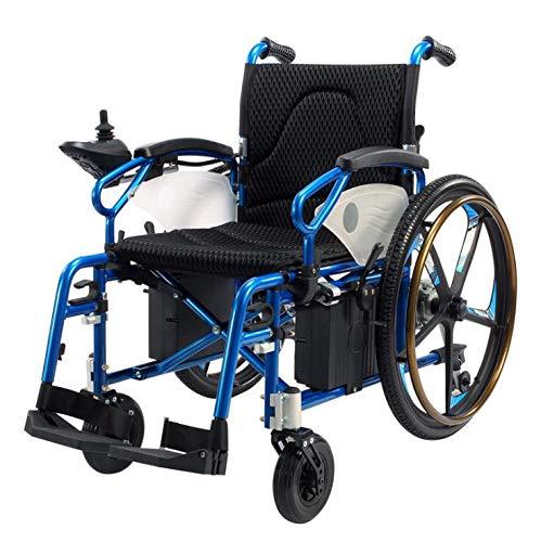DSVBNM Ancianos en Silla de Ruedas Plegable de Aluminio de Las Personas con discapacidad la Carretilla eléctrica Scooter