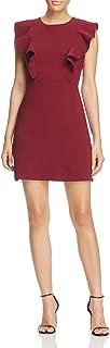 Womens Terri Ruffle Flutter Sleeves Wear to Work Dress