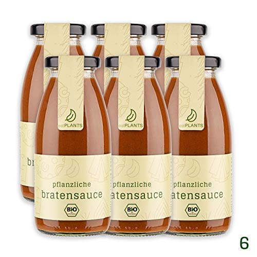 eatPLANTS - pflanzliche BIO Bratensauce (260ml) | Bratensoße vegan, Soße braun (6)
