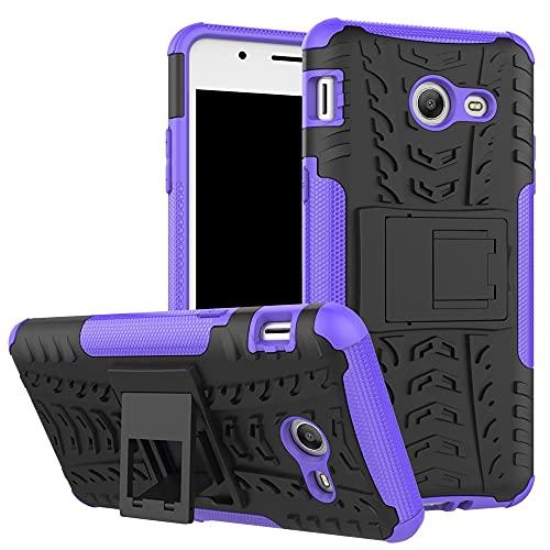 Cáscara del teléfono Funda protectora para Samsung Galaxy J5 2017, TPU + PC Funda robusta híbrida de grado militar, caja de teléfono a prueba de golpes con soporte Funda protectora ( Color : Purple )