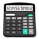 Calculator, Splaks Standard Functional Desktop Calculator Solar and AA Battery Dual Power Electronic Calculator with 12-Digit Large Display