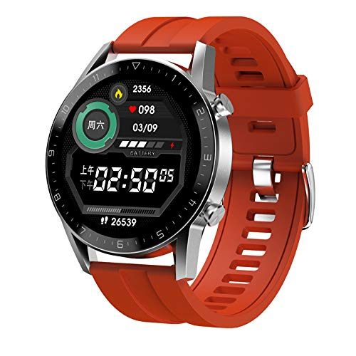 FMSBSC Smart Watch for Android Ios Phones (Bluetooth Call) Health And Fitness Smartwatch with Heart Rate Blood Pressure Spo2 Monitor Sleep Tracker,IP67 Waterproof, Sports Watch for Men Women,Red