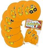 8 Luftballons * BAGGER * als Baustellen-Deko für Kindergeburtstag oder Mottoparty von Lutz Mauder // 66027 // Party Kinder Party Ballon