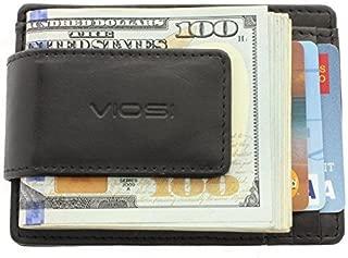 RFID Men's Leather Magnetic Front Pocket Money Clip Wallet