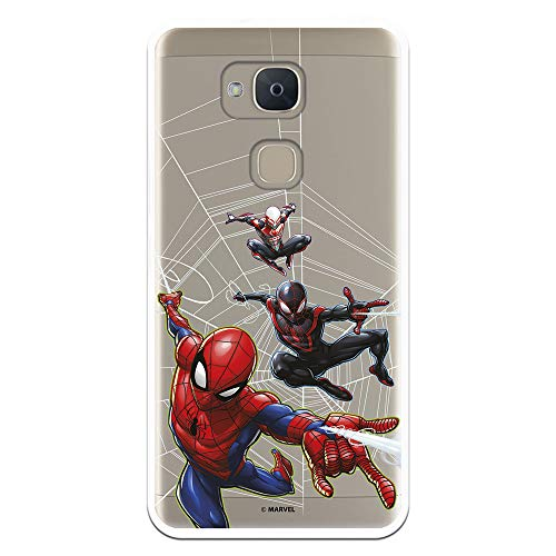 Funda para BQ Aquaris V-Vs Oficial de Marvel Spiderman Telaraña Patron para Proteger tu móvil. Carcasa para BQ de Silicona Flexible con Licencia Oficial de Marvel.