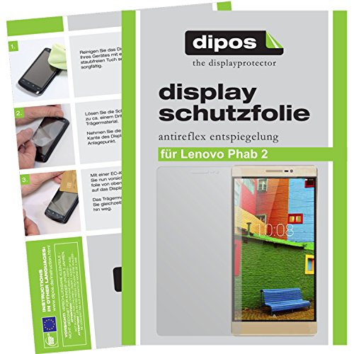 dipos I 6X Schutzfolie matt kompatibel mit Lenovo Phab 2 Folie Bildschirmschutzfolie