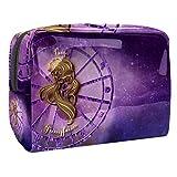 Escorpio signo del zodiaco Horóscopo Símbolo de astrología mango de PVC portátil bolsa de equipaje de viaje 18.5x7.5x13cm portátil viaje PVC maquillaje cepillos bolsas