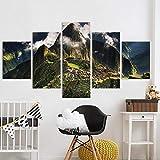 Leinwand HD-Druck Gemälde Wohnzimmer Dekor 5 Stück Machu