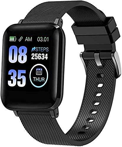 Reloj Inteligente Rastreador De Actividad Física Masculina Y Femenina Monitor De Frecuencia Cardíaca Oxímetro De Sangre Reloj Inteligente Ipx7 A Prueba De Agua Compatible con iOS/Android-S-1