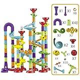Marble Run 113 Piezas Marble Runs Toy Marble Maze Race Track Game Set Stem Juguete Educativo De Aprendizaje Bloques De Construcción para Niños De 5 A 6 Años De Edad Niños Y Niñas