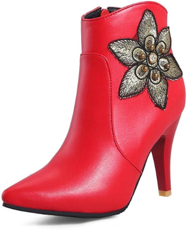 FMWLST Stiefel Frauen Stiefeletten Stiefeletten Stiefeletten Frauen High Heels Plus Winter Warme Schuhe Stiefel  7f5c68