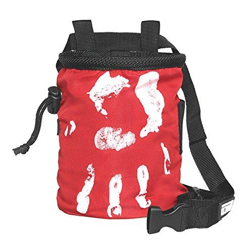 LACD Chalk Bag Farbe rot: Magnesium Tasche für klettern & bouldern, Frauen & Männer, chalkbag ist aus super strapazierbaren und stabilen Material und staubdicht || Hand of Fate