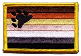 Flaggenfritze Flaggen Aufnäher Gay Pride Bear Fahne Patch + gratis Aufkleber