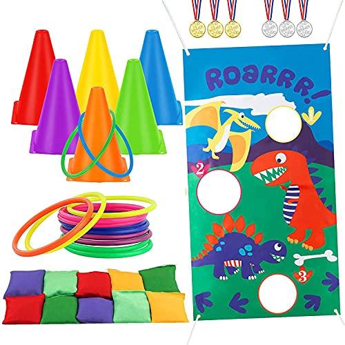 ThinkMax Ring Toss Game Set, Juego de lanzamiento de bolsas de frijoles...