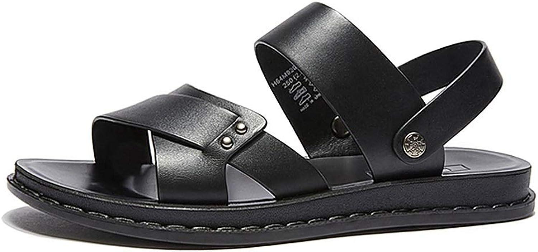 Sport Sandals Sandals Summer Men's Beach shoes Fashion Outdoor Slippers Non-Slip Sports Sandals Breathable Casual Roman shoes (color   Black, Size   9UK 11US)