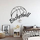 HGFDHG Calcomanías de Pared de Baloncesto Cesta Deportes niños Dormitorio salón de Baloncesto calcomanías de Arte de Interior Pegatinas de Pared de Vinilo decoración del hogar Bolas