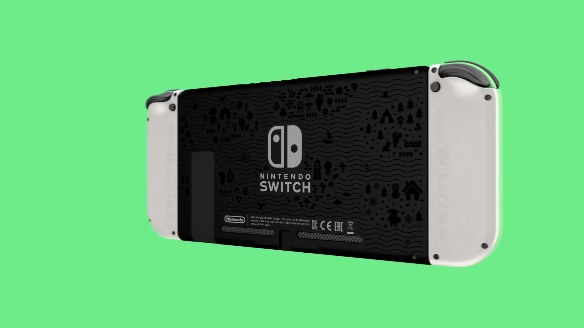 Nintendo Switch Animal Crossing New Horizons Edition Limited Edition Inkl Animal Crossing Downloadcode Games