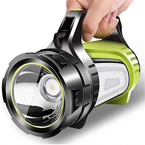J Luz de Acampada LED, con luz Lateral, Fuente de alimentación móvil a Prueba de Agua, plástico ABS de Alta Intensidad, sin Polvo, sin deslumbramiento, iluminación Larga